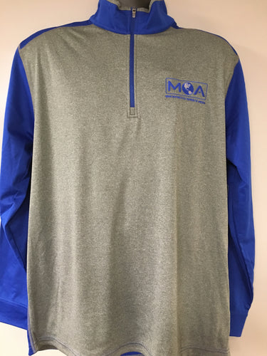 UltraClub Cool & Dry Sport 2-Tone 1/4 Zip Pullover