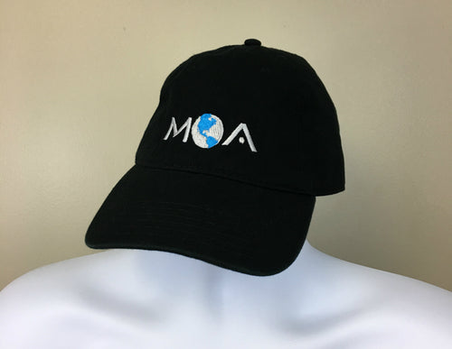 Classic MOA Club Hat Black Unstructured Front