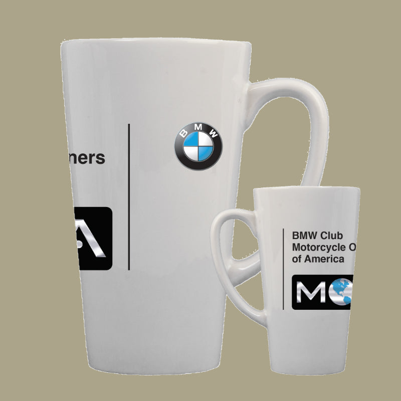 BMW Club White Latte Mug