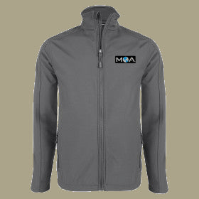 Men's Soft Shell Jacket Charcoal or Grey