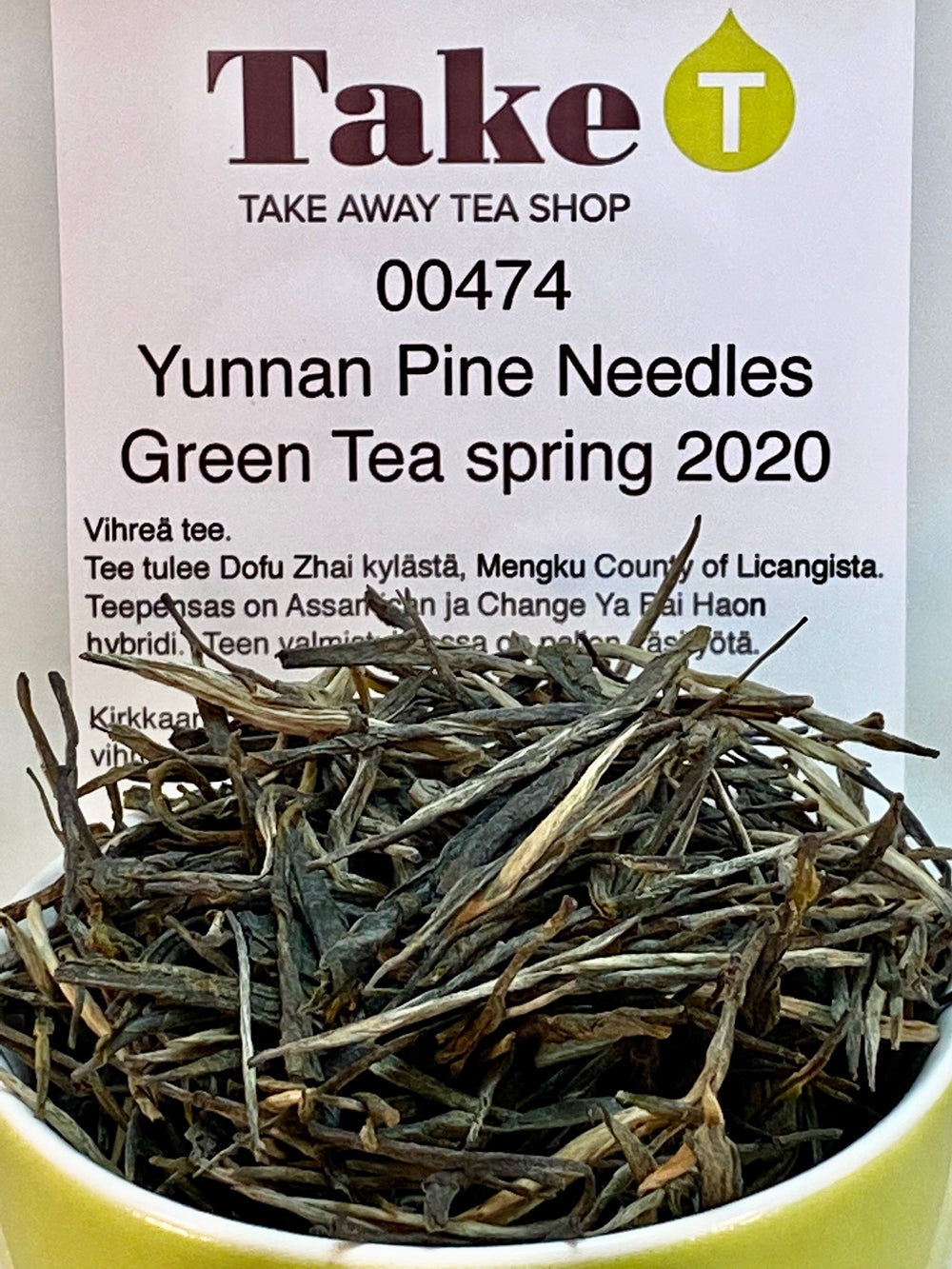 Yunnan Pine Needles Green Tea Spring 2020