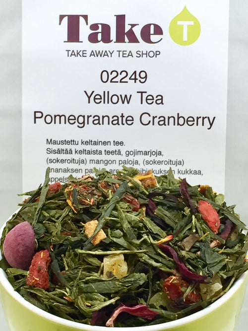 Yellow Tea Pomagranate Cranberry