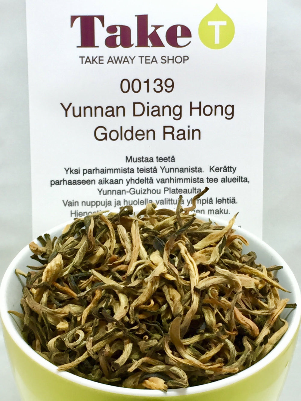 China Yunnan Diang Hong Golden Rain