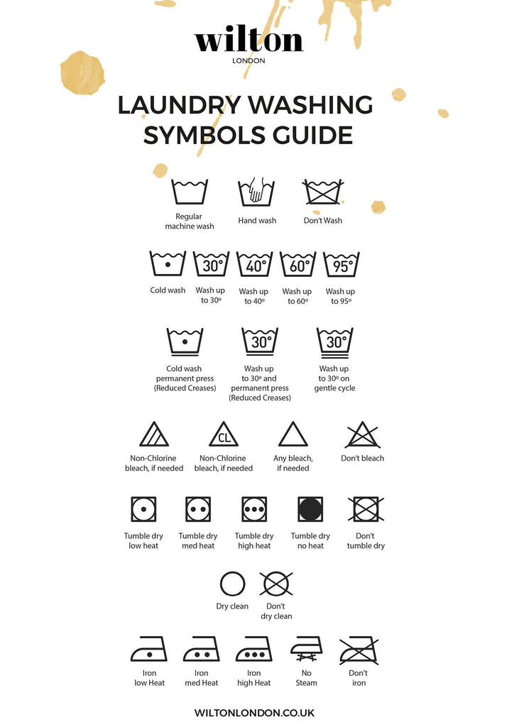 wilton laundry symbol guide