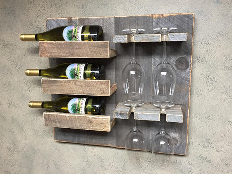 Vintage Style Farmhouse Wine Racks
