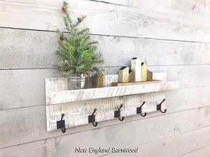 farmhouse coat rack with shelf