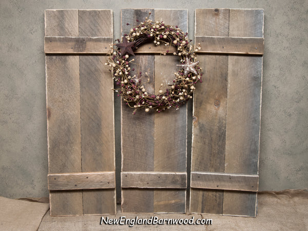 rustic farmhouse wood shutters
