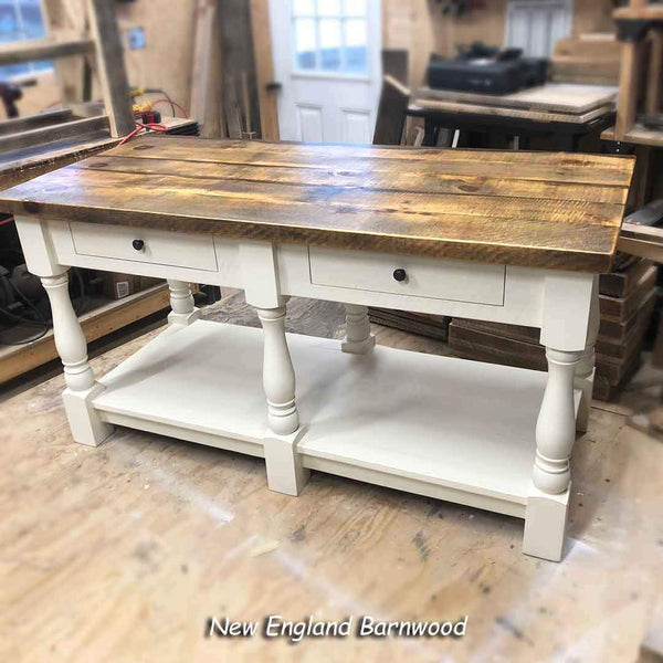 farmhouse kitchen island with storage
