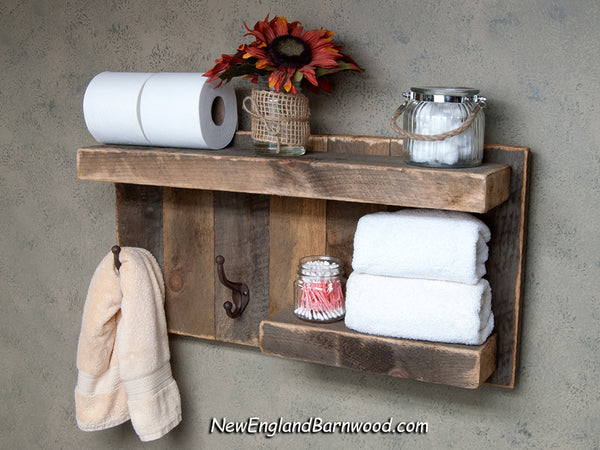 rustic bathroom shelf