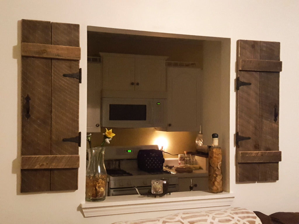 ... Decorative Wall Shutters, Rustic Interior Shutters