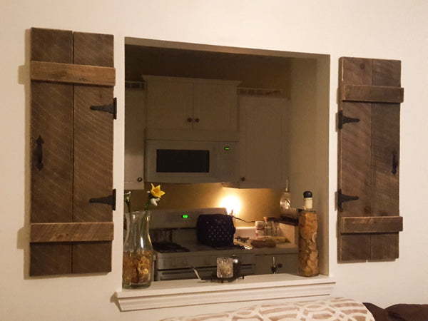 rustic wall mount shutters