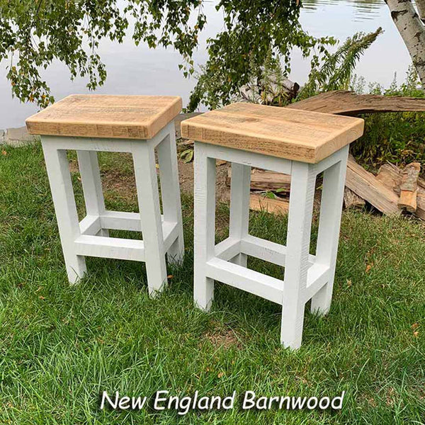 farmhouse white bar stools