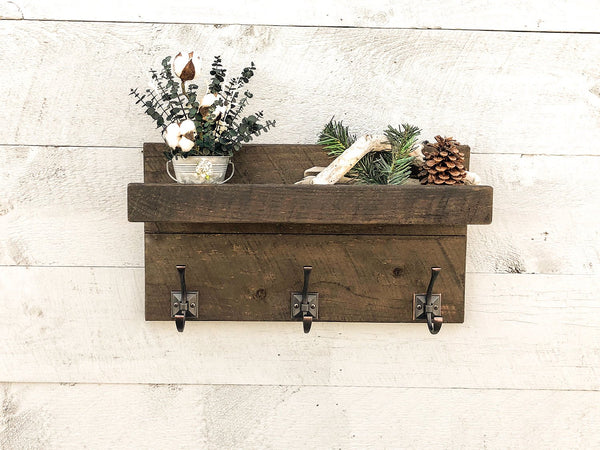 Entryway Organizer Coat Rack Shelf