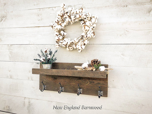 Entryway Coat Rack Organizer with Shelf