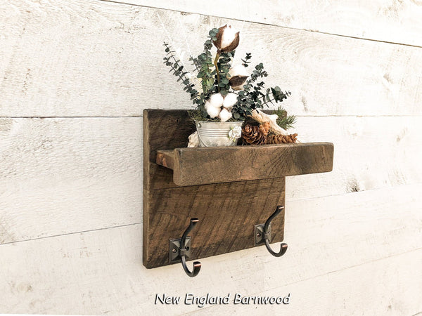 Rustic Bathroom Organizer Shelf