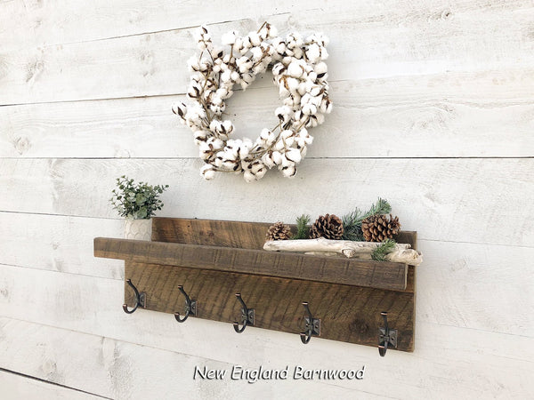 Farmhouse Coat Rack Wall Mount