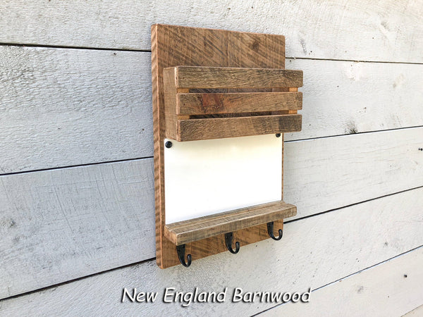 Entryway Mail Organizer with Hooks