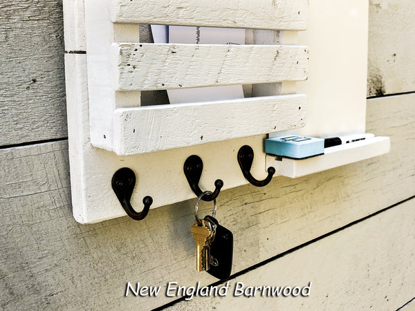 Wall Mount Mail and Key Entryway Organizer