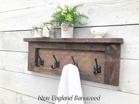bathroom towel rack rustic