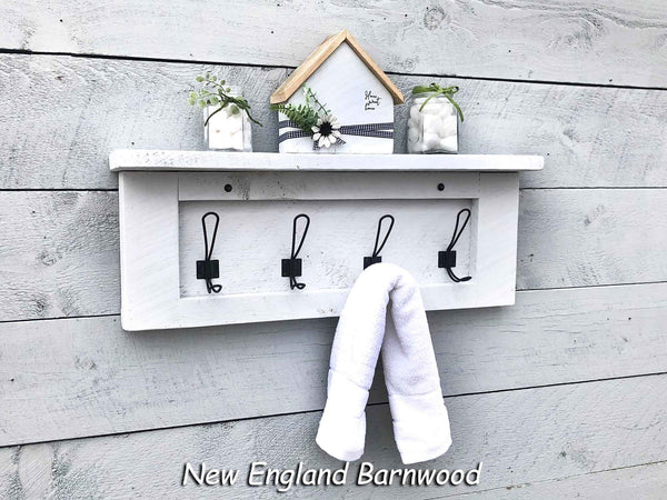 rustic bathroom towel hooks