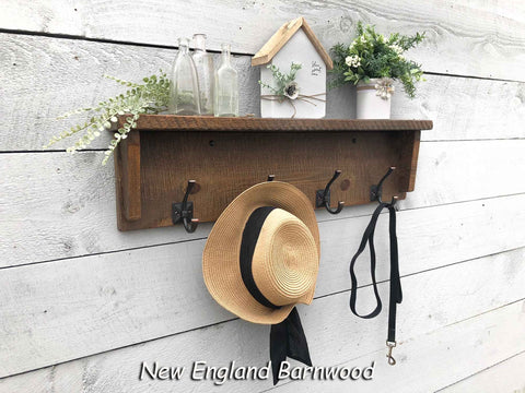 farmhouse entryway coat rack with shelf