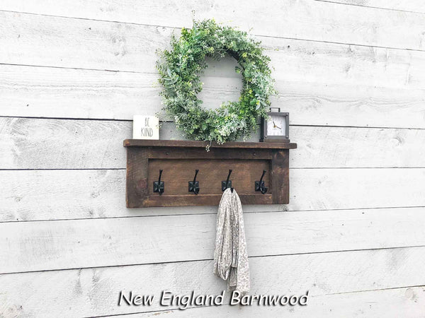 rustic farmhouse entryway coat rack