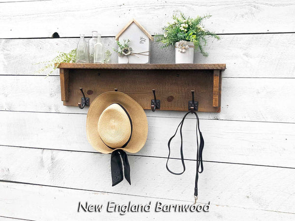 Wall Mounted Coat Rack With Shelf