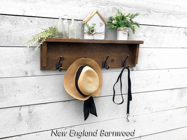 Farmhouse Entryway Wall Mounted Coat Rack With Shelf