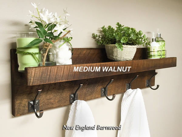 barnwood entryway coat rack