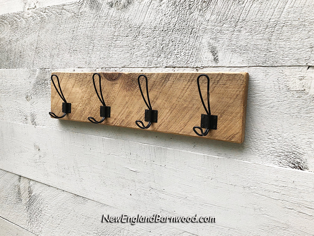 Antique Style Wooden Wall Mount Coat Rack