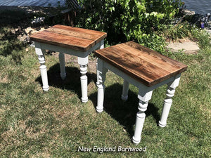 rustic farmhouse end tables