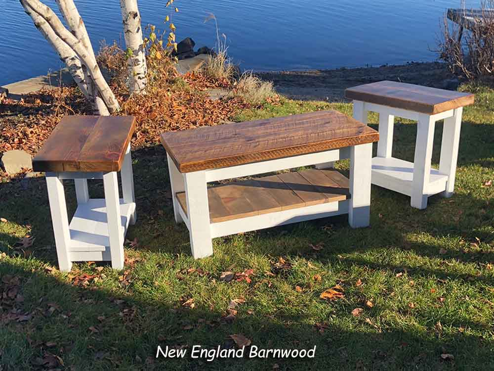 farmhouse coffee and end table sets