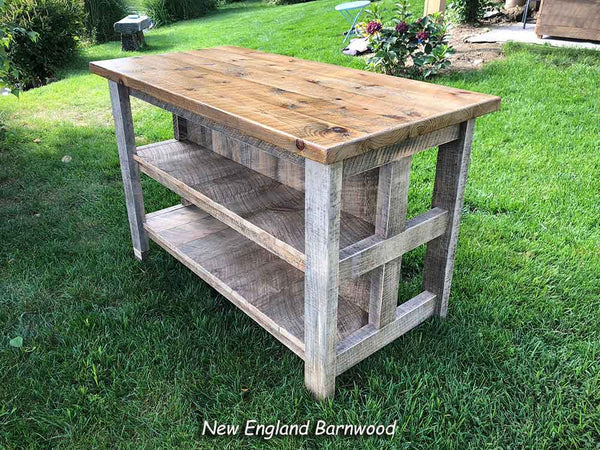 Farmhouse Kitchen Island With Seating