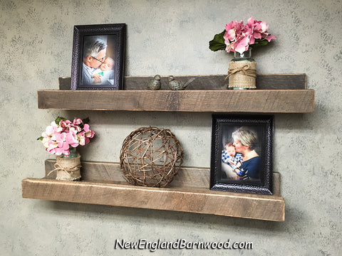 rustic farmhouse floating shelf