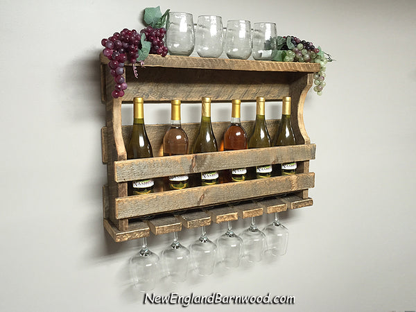 country cottage wine rack