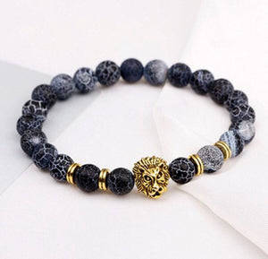 Lion Head Beads Bracelet for Men