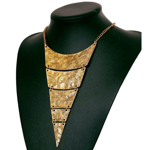 Geometric Triangle Choker Necklace