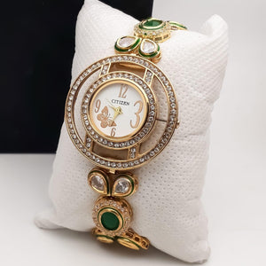 American Diamonds Embellished Fashion Bracelet Watch for Women - Citizen