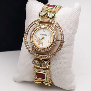 American Diamonds Embellished Fashion Watch for Women - Citizen