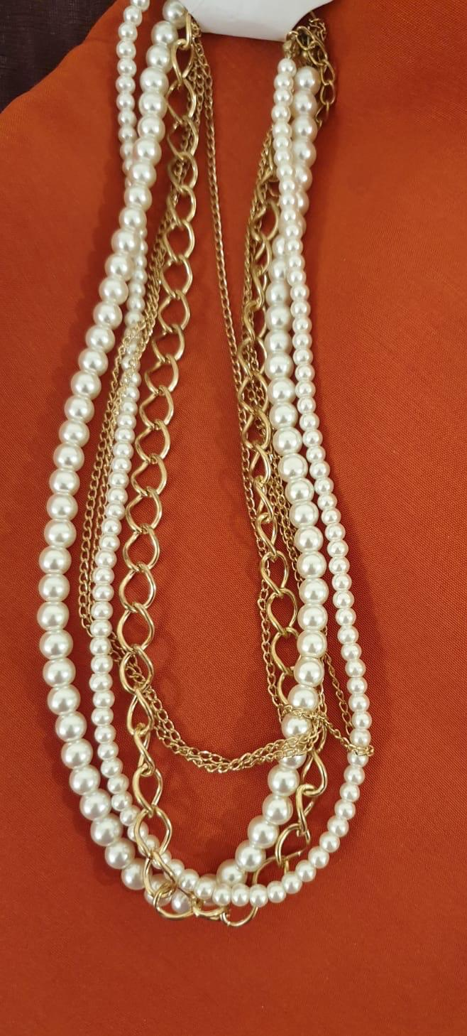 Two Layers Pearl Choker