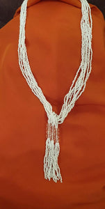 Multilayer White Beads Necklace - La Veliere