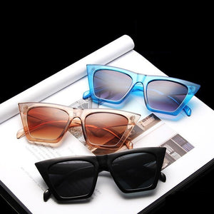 Fashion Square Sunglasses Women Designer Luxury Man/Women Cat Eye Sun Glasses Classic Vintage UV400 Outdoor Oculos De Sol - La Veliere