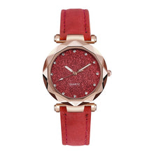 Casual Women Romantic Starry Sky Wrist Watch Leather Rhinestone Designer Ladies Clock Simple Dress Gfit Montre Femme - La Veliere