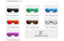 KINGSEVEN Natural Wooden Sunglasses Men Polarized Fashion Sun Glasses Original Wood Oculos de sol masculino - La Veliere