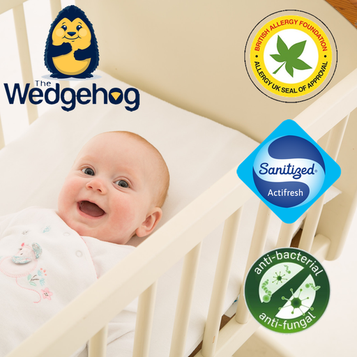 Medical Grade NHS Wedgehog® - 38cm Crib Reflux Wedge - includes Free Bundled Reflux eBook - The Wedgehog®