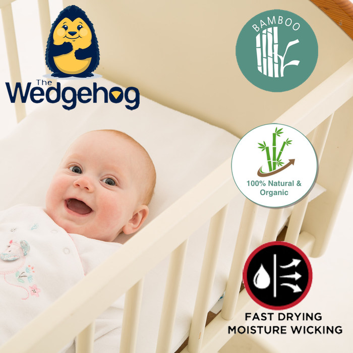 Bamboo Wedgehog® Deluxe - 38cm Crib Reflux Wedge - includes Free Bundled Reflux eBook - The Wedgehog®