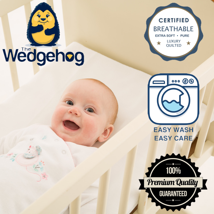 Quilted Wedgehog® Deluxe - 38cm Crib Reflux Wedge - includes Free Bundled Reflux eBook