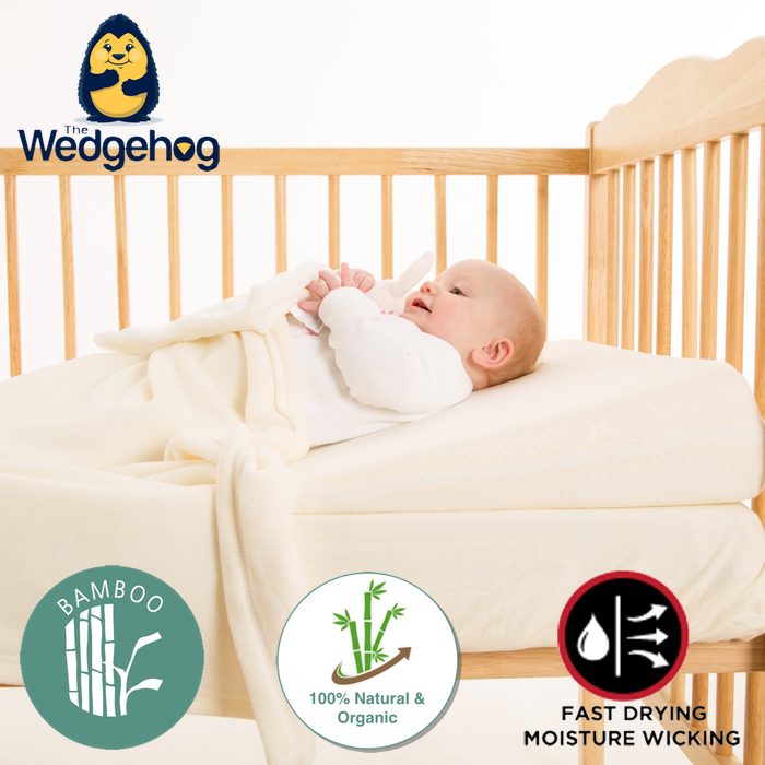 Bamboo Wedgehog® Deluxe - 70cm Cot Bed Reflux Wedge - includes Free Bundled Reflux eBook