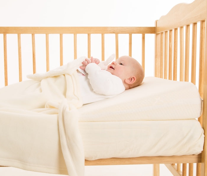 Tutti Bambini CoZee® Bedside Crib Quilted Wedgehog® Reflux Wedge - includes Free Bundled Reflux eBook