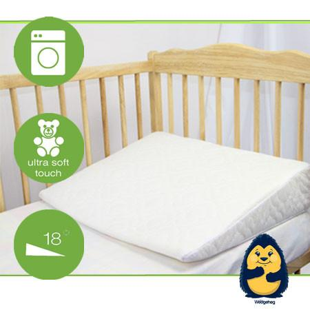 Quilted Wedgehog® Deluxe - 70cm Cot Bed Reflux Wedge - includes Free Bundled Reflux eBook - The Wedgehog®